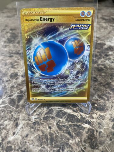 Secret Rare Rapid Strike Energy Battle Styles 182/163