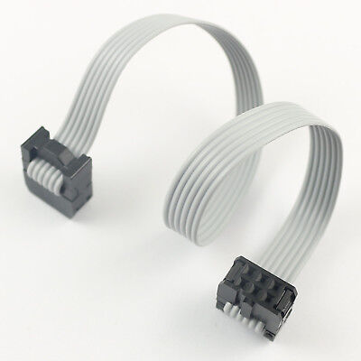 2Pcs 2.54mm Pitch 2x12 Pin 24 Pin 24 Wire IDC Flat Ribbon Cable Length 60CM