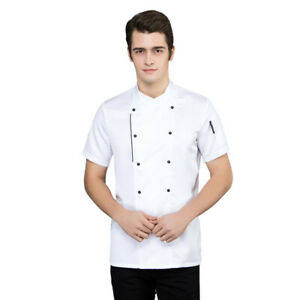 Uniform Chef Coat Women Men Restaurant Clothes Long Sleeve Chef Jacket Workwear