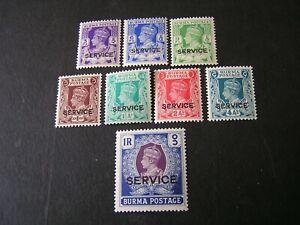 BURMA-SCOTT-015-021-O24-8-1939-KGVI-OFFICIAL-034-BURMA-SERVICE-034-ISSUE-MVLH