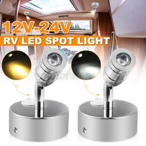 12V-24V-LED-Applique-de-chevet-Eclairage-Lampe-Chrome-Interieur-Chambre