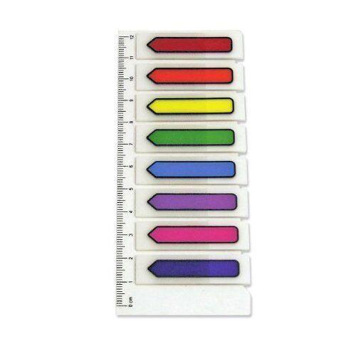200 St transparente Pfeile zum Markieren 8 Farben Pagemarker Haftstreifen