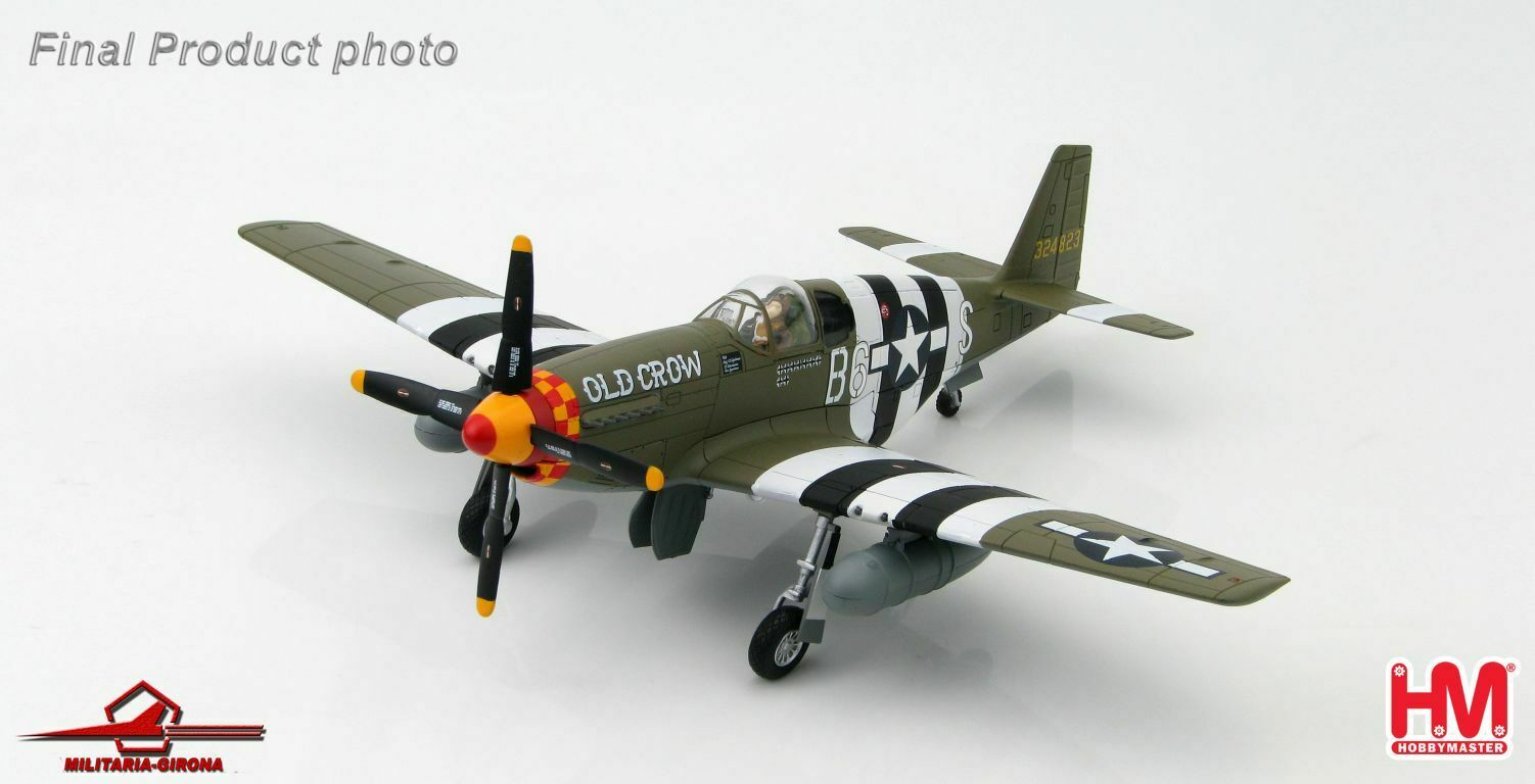 Senza tasse Hobby Master 1 48 HA8503B P-51B P-51B P-51B Mustang USAAF Old Crow Bud eerson D-Day June 6  Ultimo 2018