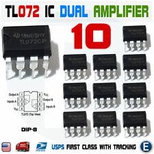 10pcs Tl072cp Tl072 Low Noise Jfet Dual Op Amp Dip 8 Ic Operational Amplifier