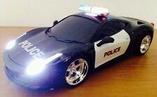 POLICE CAR FERRARI RADIO REMOTE CONTROL CAR SIREN LIGHTS - FAST SPEED