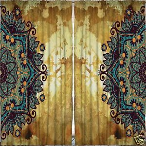 Image Is Loading Mandala Curtain Panel Set Exotic Fl Living Bed