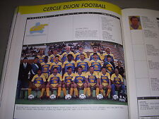 FOOTBALL COUPURE LIVRE PHOTO COULEUR 20x10 D2 GrB CERCLE DIJON FOOT 1988/1989