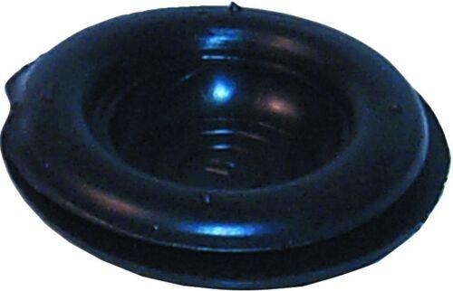 Noir caoutchouc découpage oeillets 12.5MM trou diamètre x 100