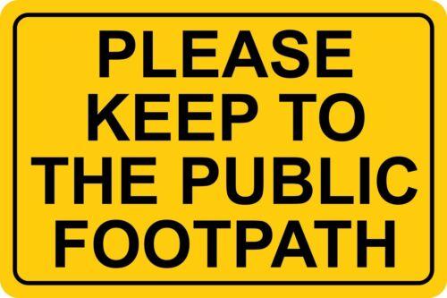 Vi pregherei di attenervi al pubblico marciapiede Cartello 20cmx30cm