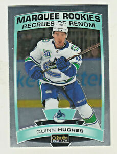 2019-20-OPC-Platinum-MARQUEE-ROOKIES-190-QUINN-HUGHES-RC-Canucks-QTY-AVAILABLE