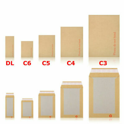 2000 x A6//C6 PLEASE DO NOT BEND HARD CARD BOARD BACKED ENVELOPES MANILLA BROWN
