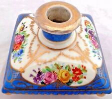 Antique French Porcelain Cushion Shape Scent Perfume Bottle Hand Painted Sevres?