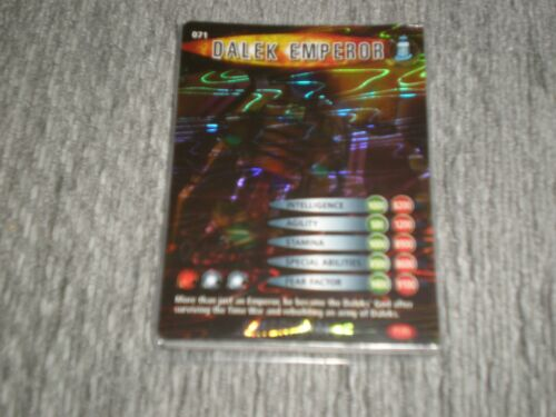 Dr who trading card 071 Dalek Emperor Super rare card Exterminator 071//275