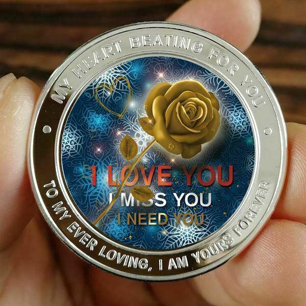 "Lot of 10 /""Rose I Love You/"" Design 1 gram .999 Fine silver bullion bar."