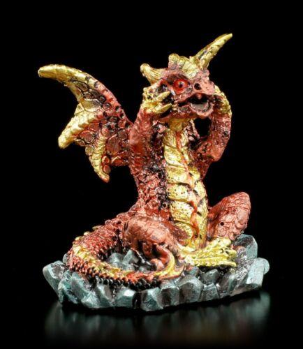 Fantasy Geschenk Deko Statue bunt Drachen Figuren 3er Set Nichts Böses