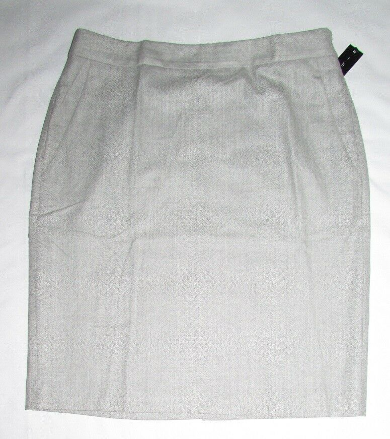 200 NWT Theory Asuka Wool Stretch Skirt Pale Heather Size 8
