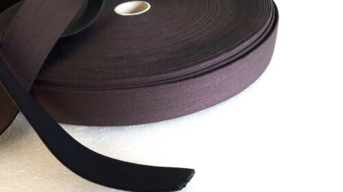PER METRE STRONG BLACK//BROWN  ELASTIC WEBBING 38MM QUALITY SADDLERY,CRAFT BELTS^
