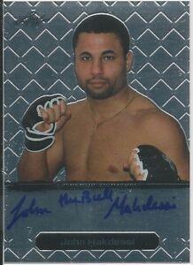 John The Bull Makdessi 2011 Leaf MMA Metal Autographs Card # BAJM4 UFC
