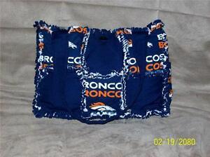 Denver Broncos Orange Blue Rag Quilt Diaper Bag Tote Purse GREAT GIFT IDEA