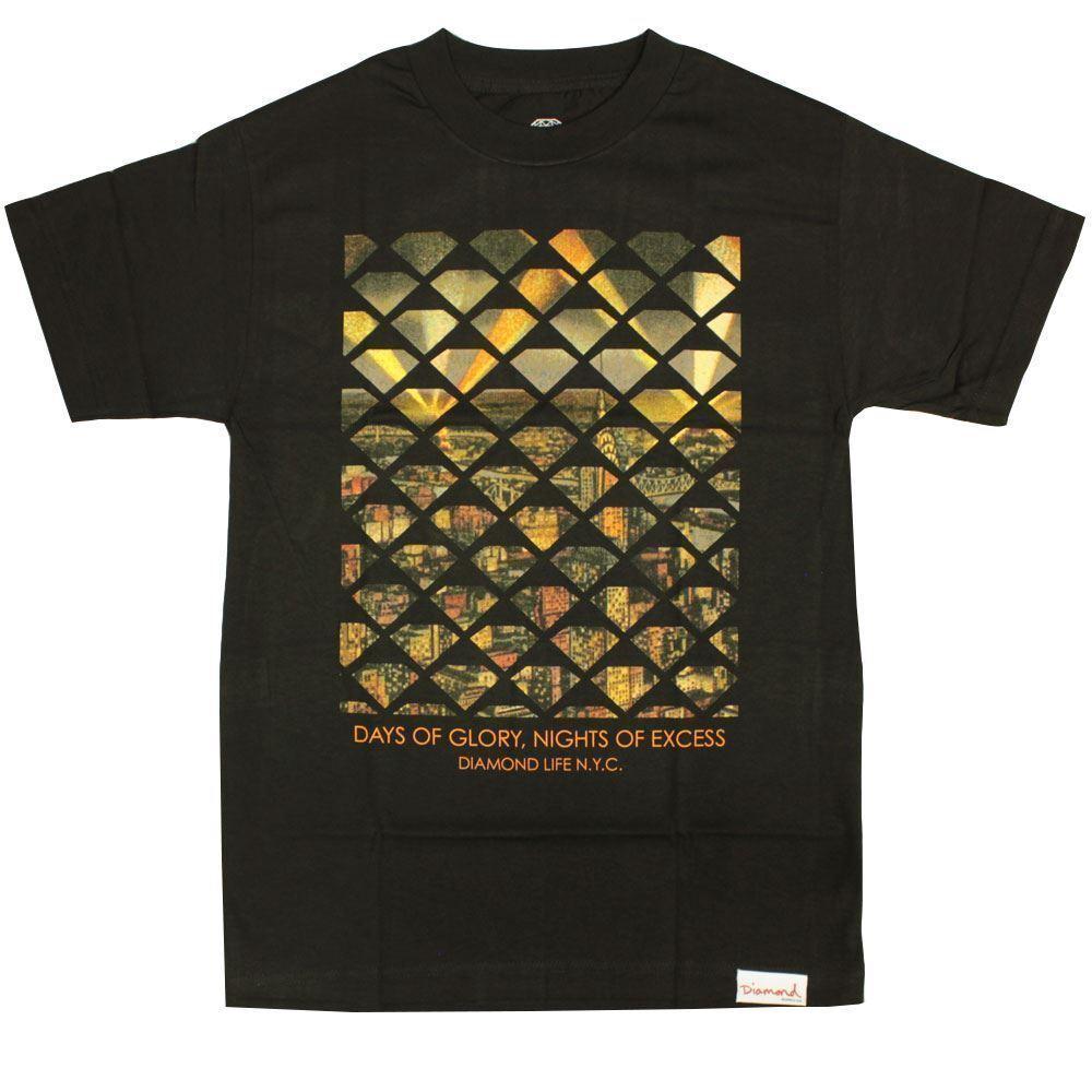 Diamond Supply Co NYC Excess T-shirt Schwarz  | Zuverlässige Leistung  | Hohe Qualität und Wirtschaftlichkeit  | Reparieren