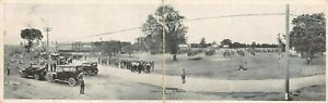 Flag-Raising-at-Camp-Grant-Rockford-Illinois-1917-WWI-Panoramic-Bifold-Postcar