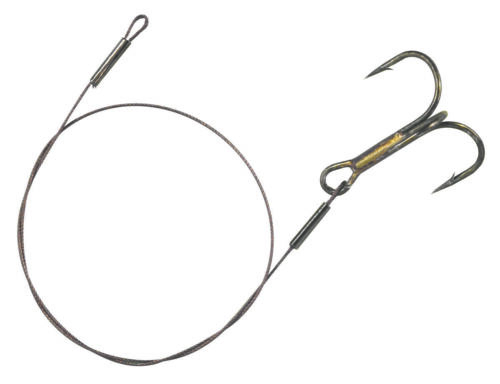 Balzer 7*7 Niroflex 9kg Stainless Steel Tippet 7x7 50cm with Triplet Size 1//0 NEW OVP