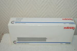 LOT-DE-10-RAILS-VOIE-DROITE-MARKLIN-24188-TRAIN-HO-NEUF-BOITE-188-3-MM-RETCHE