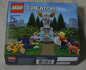 LEGO CITY STATUE FOUTAIN  LIMITED PROMO  40221  SEALED BOX  DOG