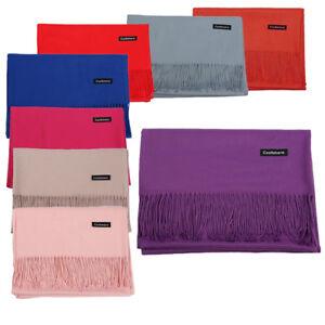Women-Ladies-Winter-Warm-Pashmina-Silk-Cashmere-Solid-Long-Shawl-Wrap-Scarf