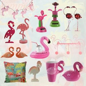 flamingo deko led solar figur gartenfigur kissen kerze becher tasse lichterkette ebay. Black Bedroom Furniture Sets. Home Design Ideas
