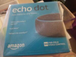 New Sealed Amazon Echo Dot 3rd Generation Media Device with Alexa Voice Charcoal