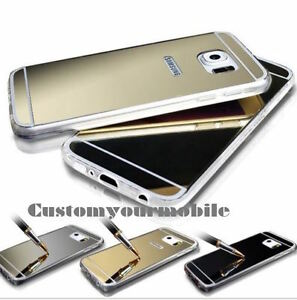 iPhone-shell-Samsung-Mirror-Acrylic-Bling-S6-S7-EDGE-Soft-Silicone-ORIGINAL
