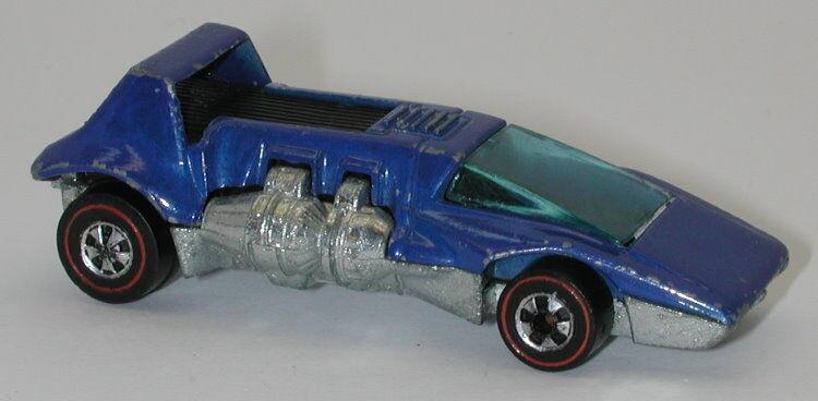 rossoline Hotwheels blu Esmalte 1973 Doble Cabecera oc13342