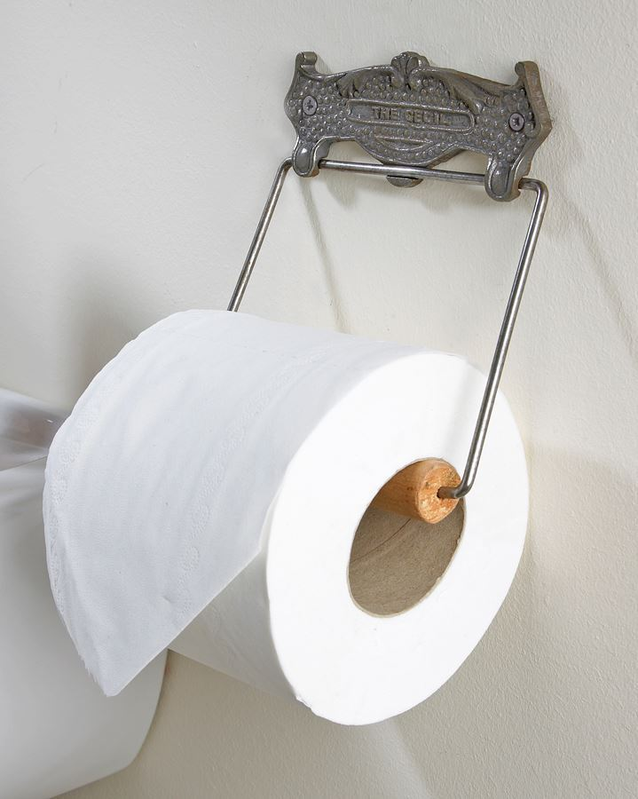 Iron And Chrome  Cecil  Toilet Roll Holder