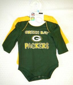 2b60cc40 Details about Green Bay Packers NFL Football Infant Baby Toddler Onepiece  Bodysuit Set of 2