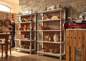 LIBRERIA ,DISPENSA ,ESPOSITORE .IDEALE COME COMPLEMENTO SHABBY IN CUCINA MODERNA