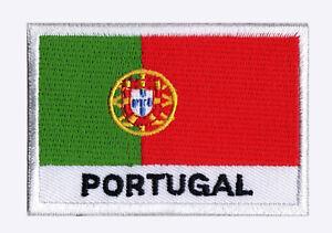 Patch-ecusson-patche-drapeau-PORTUGAL-70-x-45-mm-Pays-Monde-brode-a-coudre