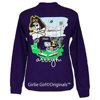 Girlie Girl Originals tailgates & Touchdowns East Carolina Long Sleeve Ecu Uni