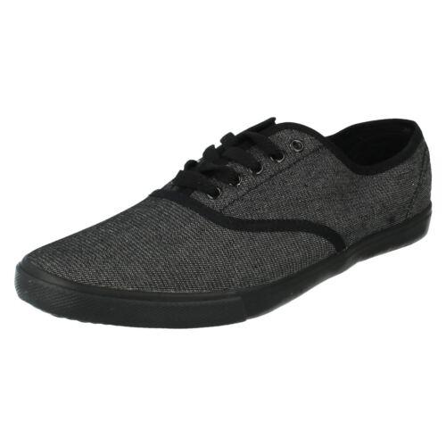 Hommes On 10 Spot Tailles 7 À Uk Lacets Noir F8683 Toile Chaussures En dSEnWdwqP
