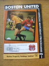21/02/1990 Boston United v Macclesfield Town  (Team Changes, Slight Worn Spine)