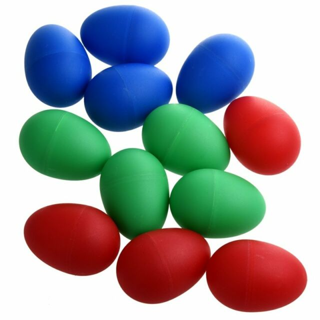 12 x Educational Plastic Drums Musical Egg Maracas Shakers L2C1
