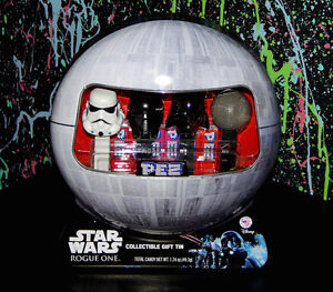 PEZ STAR WARS DEATH STAR GIFT TIN rogue one stormtrooper death trooper dispenser