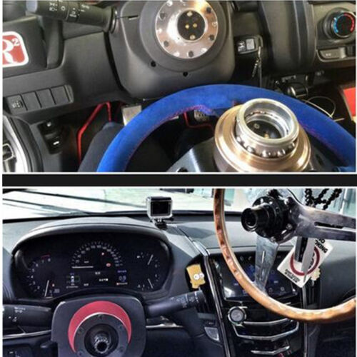 Universal Car Steering Wheel Quick Release Hub Racing Adapter Snap Off Boss Kits