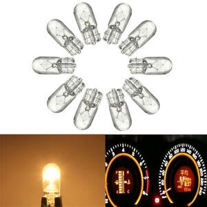 10x-12V-T10-501-W5W-Ampoule-Veilleuse-Halogene-eclairage-Plaque-Interieur-Auto