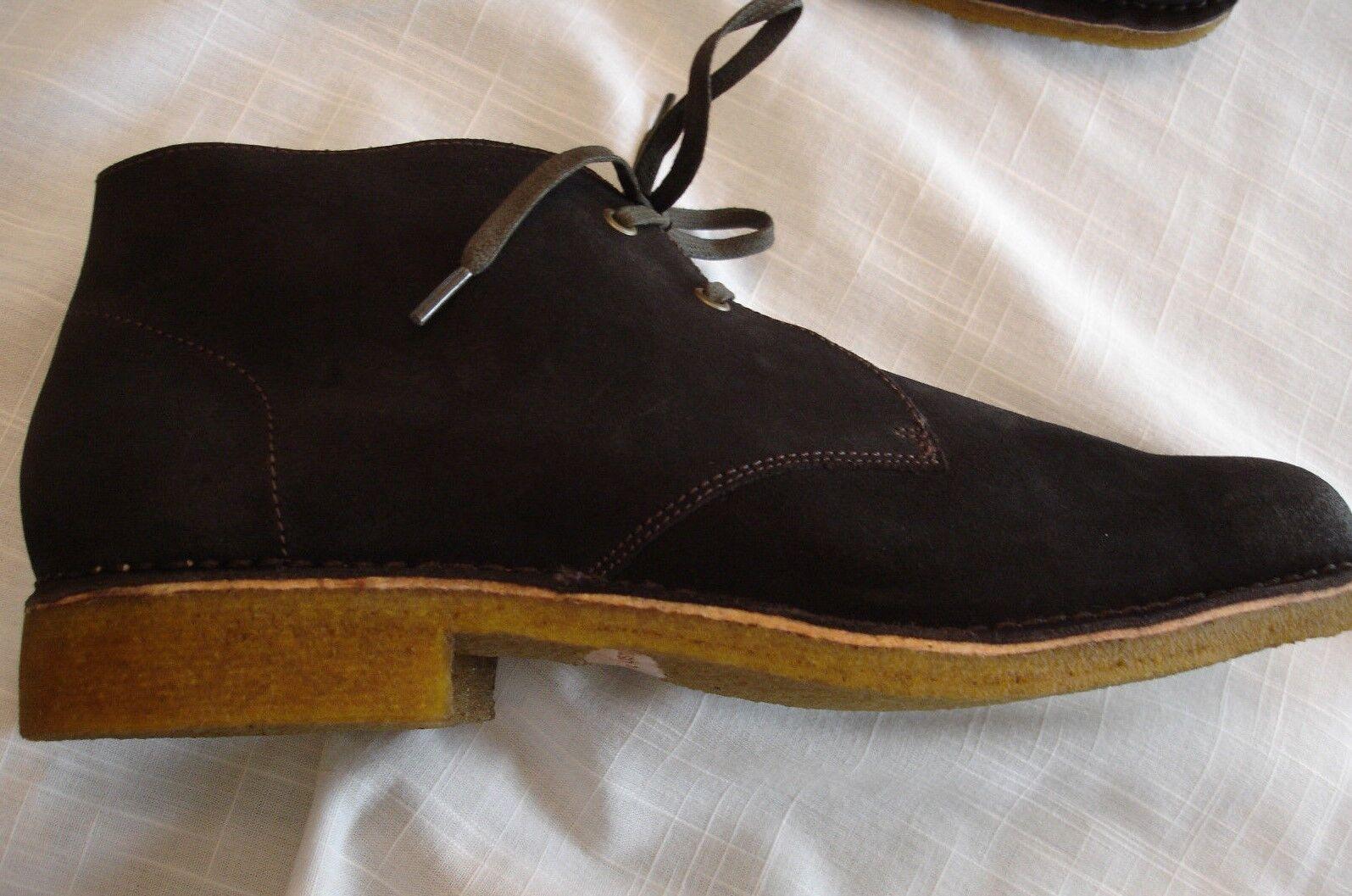 HUSH PUPPIES NORCO DK Marrón Gamuza Chukka Botín Zapatos para hombre M Nuevo en Caja