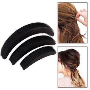 3Stk-Haar-Frisurenhilfe-Hair-Kissen-Schwamm-Dutt-Volumen-Knoten-Duttkissen-Heisse