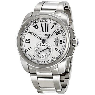 Cartier Calibre de Cartier Silver Dial Stainless Steel Automatic Mens Watch