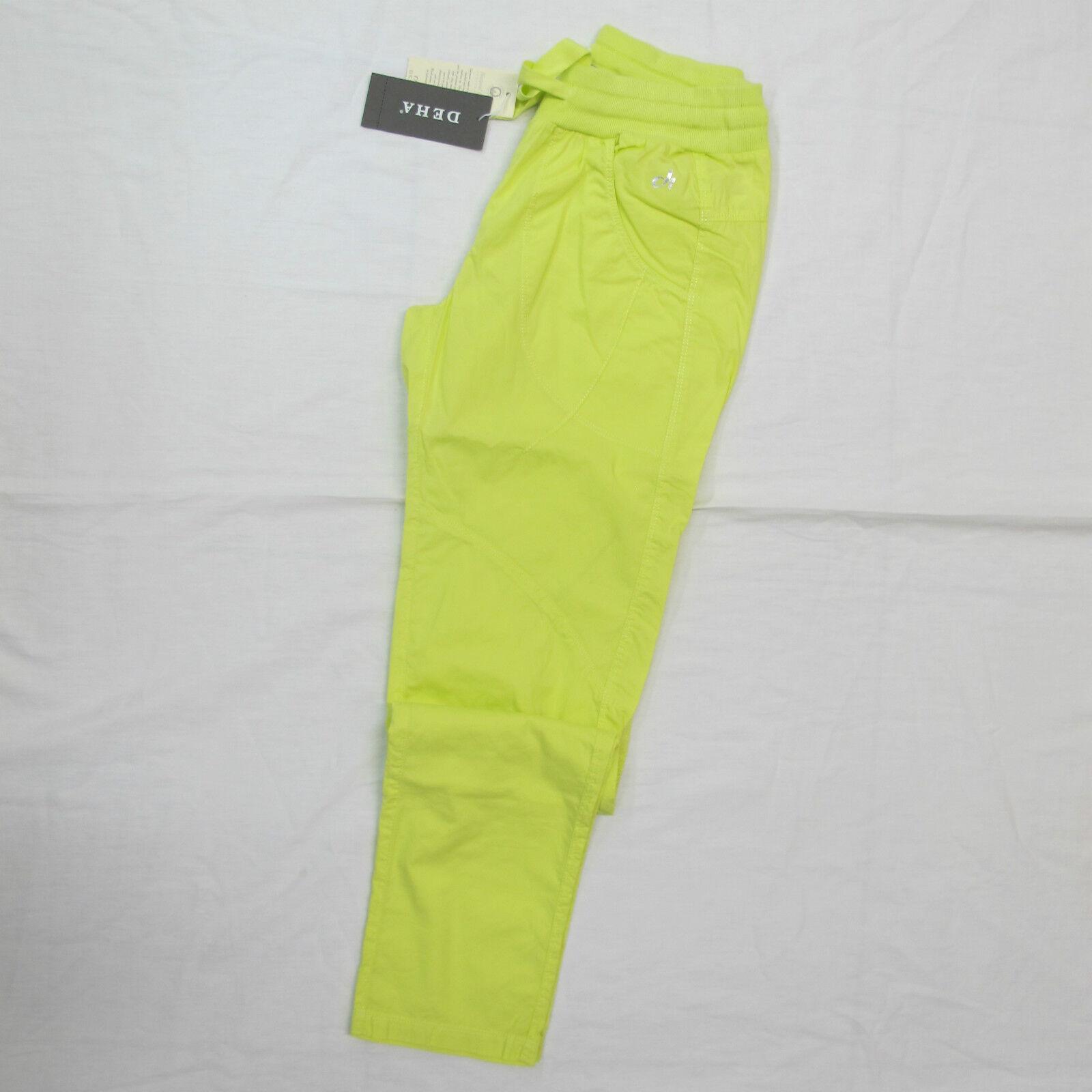 Deha Women's Trousers Mod.b82126 Col. Yellow Light Sz. XL Summer 2014