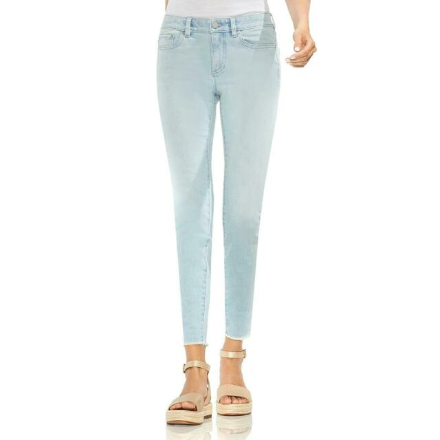 Vince Camuto Womens Blue Denim Light Wash Raw Hem Skinny Jeans 26 BHFO 5203
