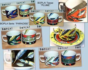 PLUME BOPLA Porzellan Tasse Kaffeetasse Teetasse 0,18l stapelbar Coffee Cup Taza